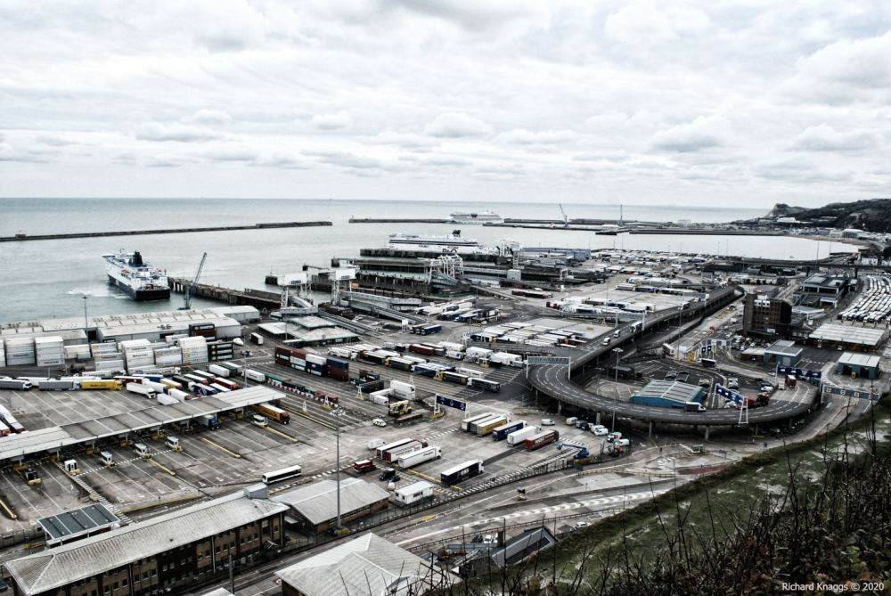 Looking over the port of Dover
