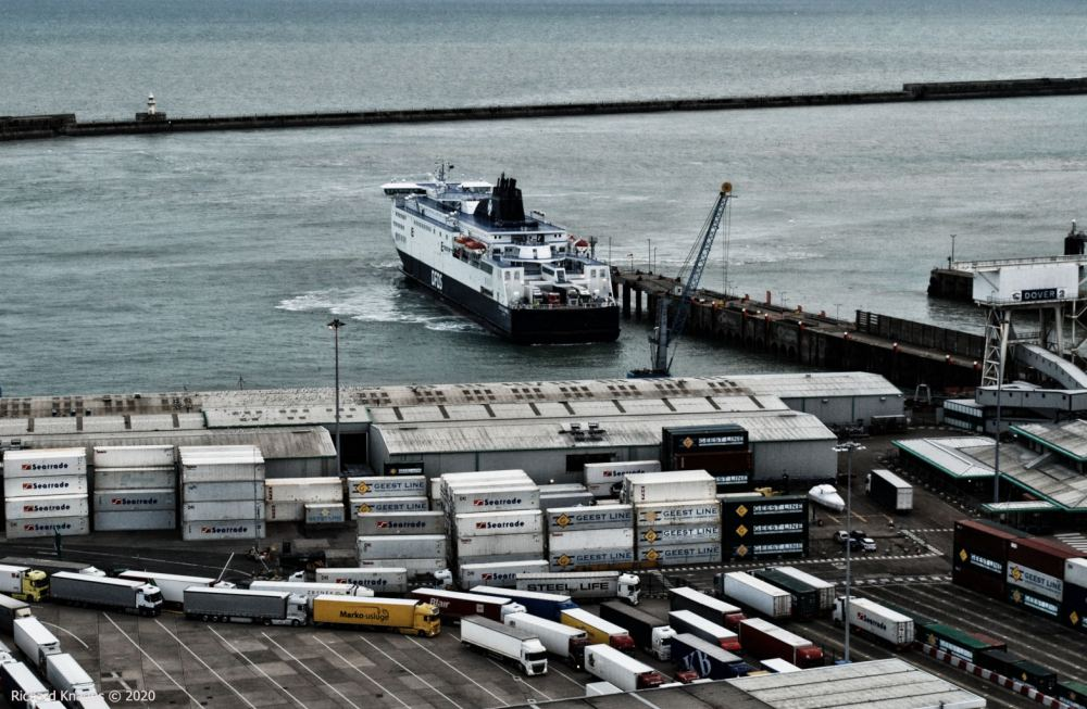 Leaving the port of Dover